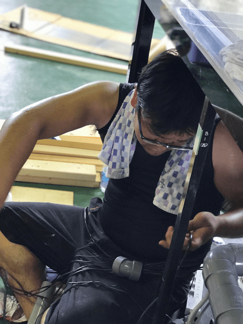 『アクアリストのお仕事は、水道屋さん?』 配管の組込もあります。