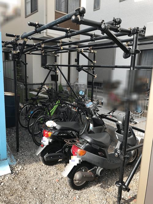 駐輪場の完成