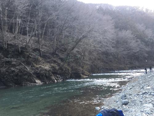 神奈川県の丹沢山塊を水源とする早戸川にあるリヴァスポット早戸