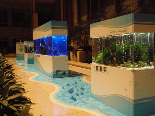 キュービックプラザ様の水槽