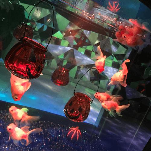金魚ミュージアムハロウィーンデザイン