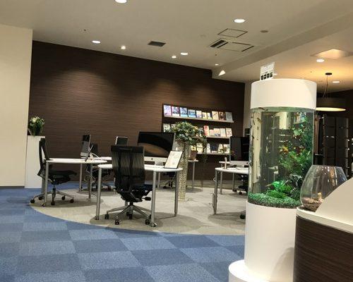 パソコンスクールISA銀座校様 レンタル水槽実績